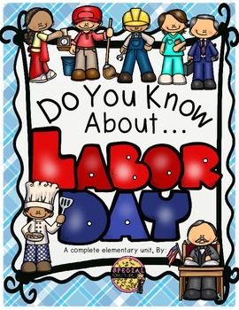 LABOR DAY ACTIVITIES READING COMPREHENSION, MATH, WRITING AND MORE