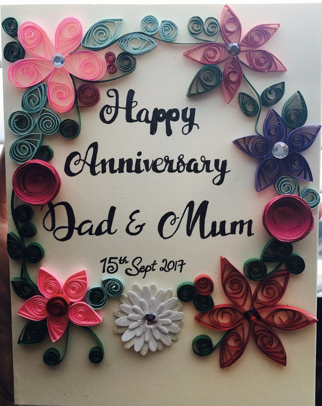 Happy Anniversary Greeting Card Anniversary Cards Handmade Diy Anniversary Cards For Parents Anniversary Greeting Cards