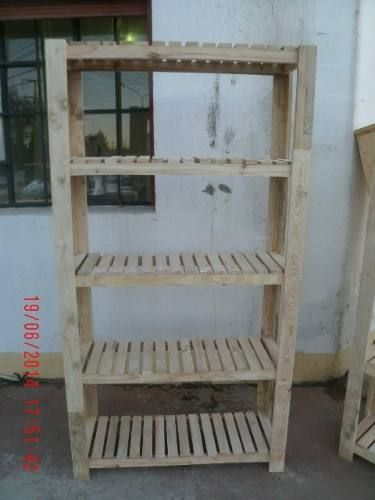 Estanteria de madera de pallet la calabresa pinterest - Estanterias para palets ...