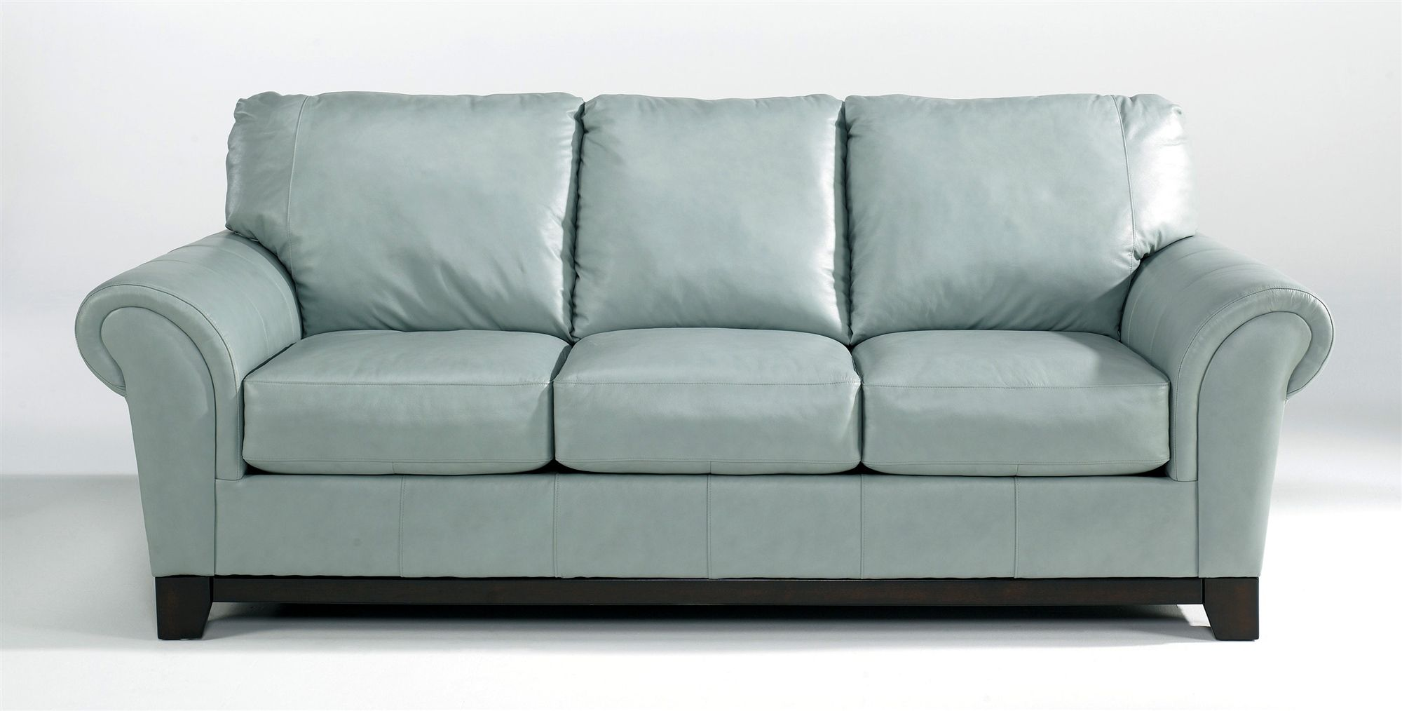Powder Blue Leather Sofa   Blue leather sofa, Best leather ...