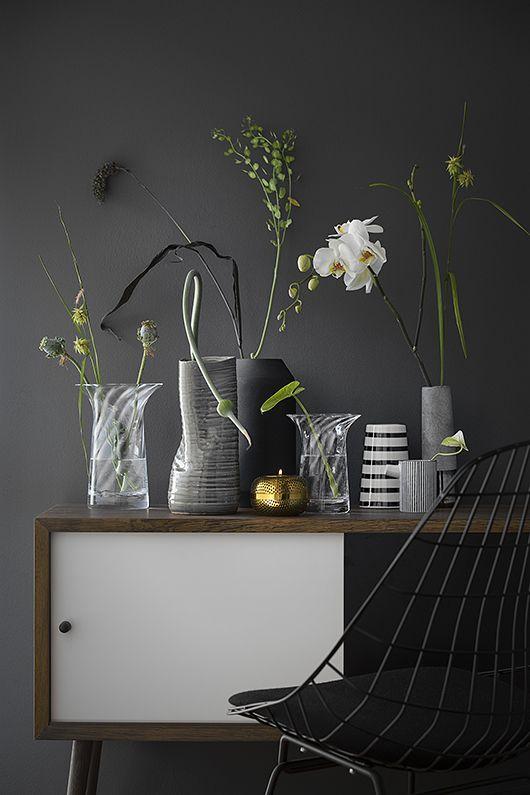 Pin von Carin Huissen auf Interieur Pinterest Vasen, Dekoration - Pflanzen Deko Wohnzimmer