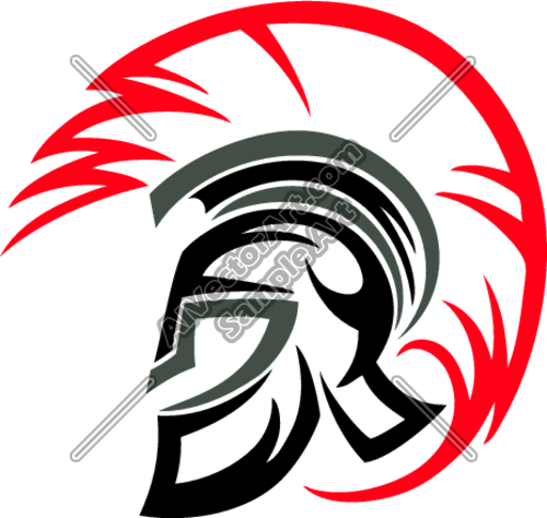 Royalty Free Clip Art Vector Logo of a Spartan Warrior Stabbing ...