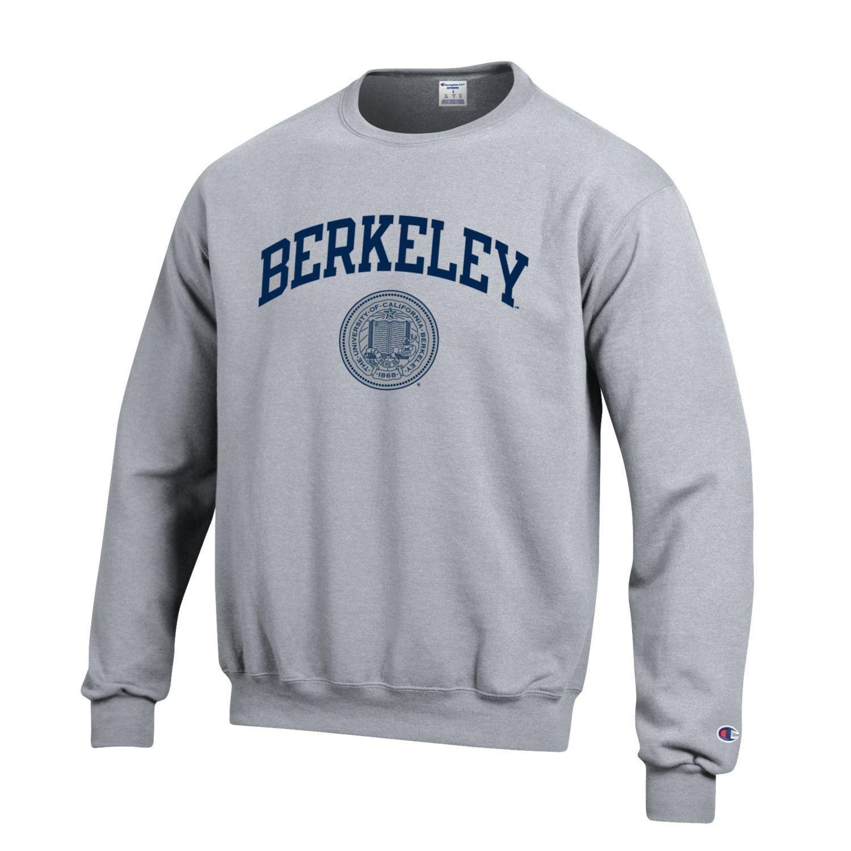 U C Berkeley Arch Seal Champion Crew Neck Sweatshirt Gray Sweatshirts Printed Sweatshirts Ucla Bruins [ 1500 x 1500 Pixel ]