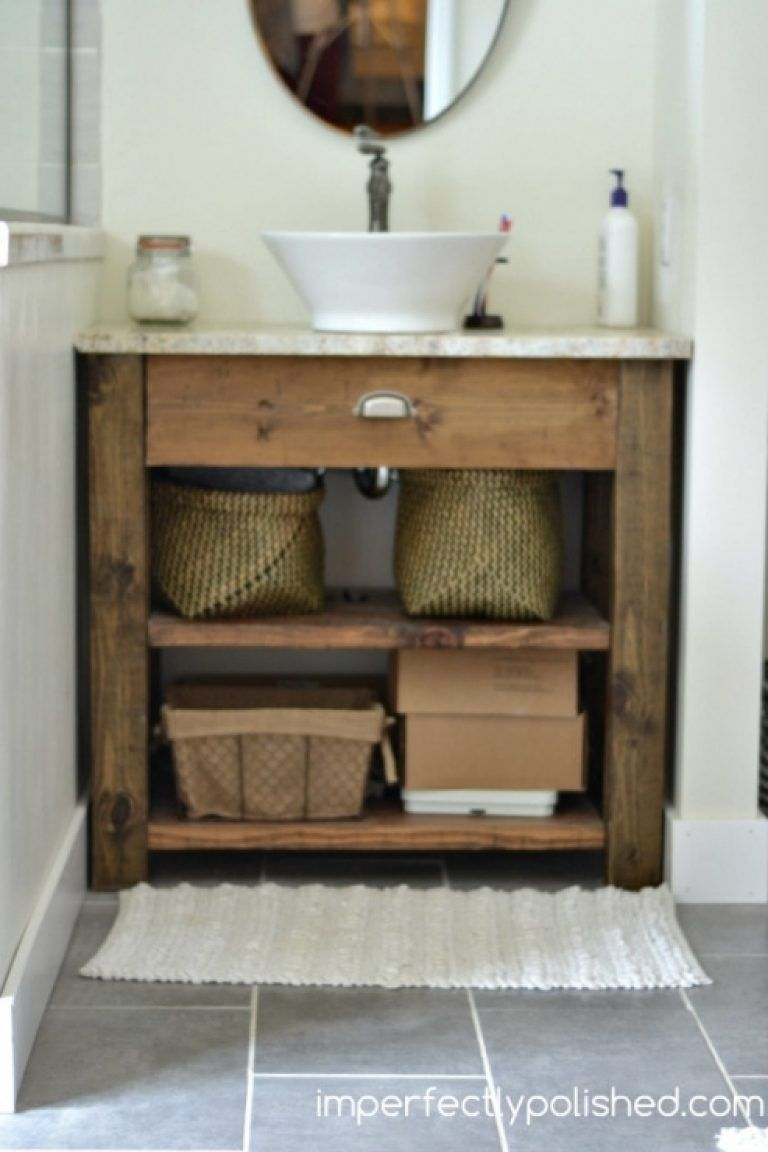 Best 9 Awesome Homemade Bathroom Vanity Inspiration For You With