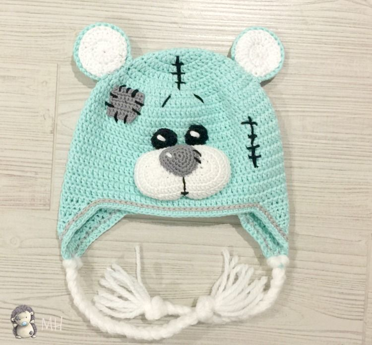 Gorro osito de peluche a crochet | patterns | Pinterest | Osos ...