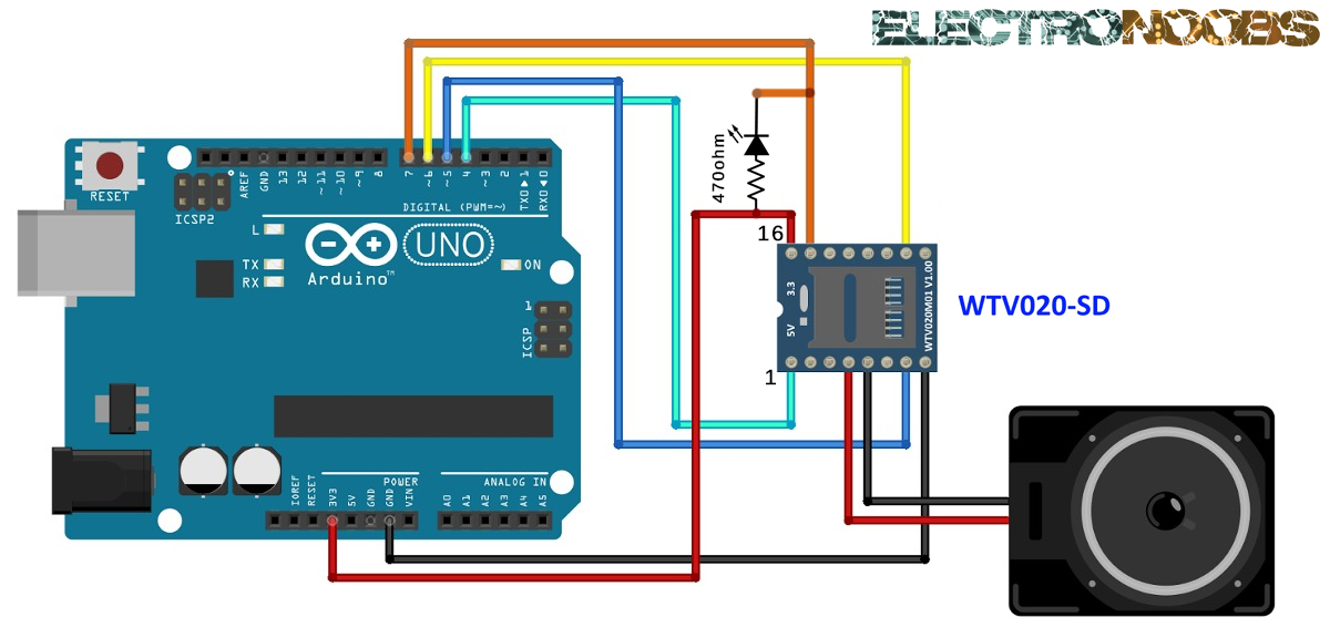 WTV020-SD sound MODULE with arduino and example code | Arduino ...