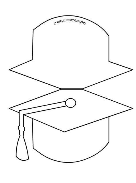 Biglietto Fine Anno Scolastico Da Colorare Tocco Graduation