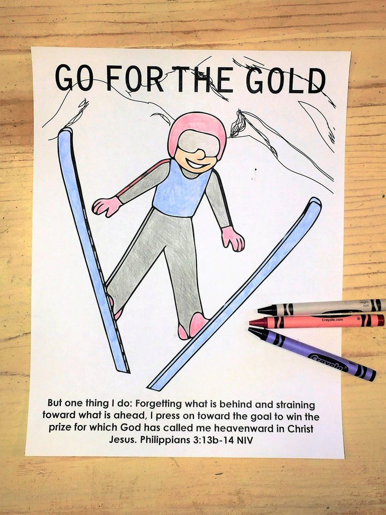 Free ski jump coloring page bible coloring pages pinterest