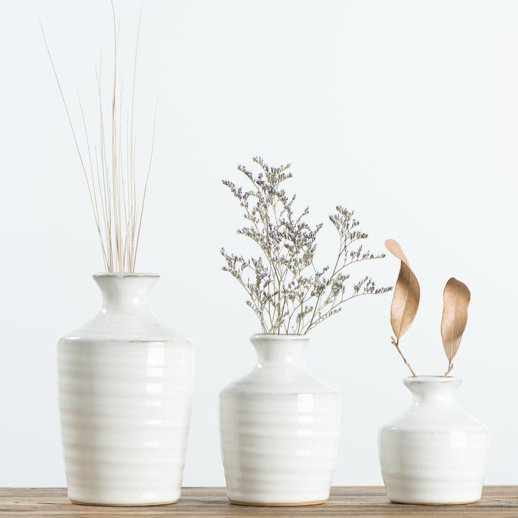 White Ceramic Vases Farmhouse Vases White Ceramic Vases White Vase Decor