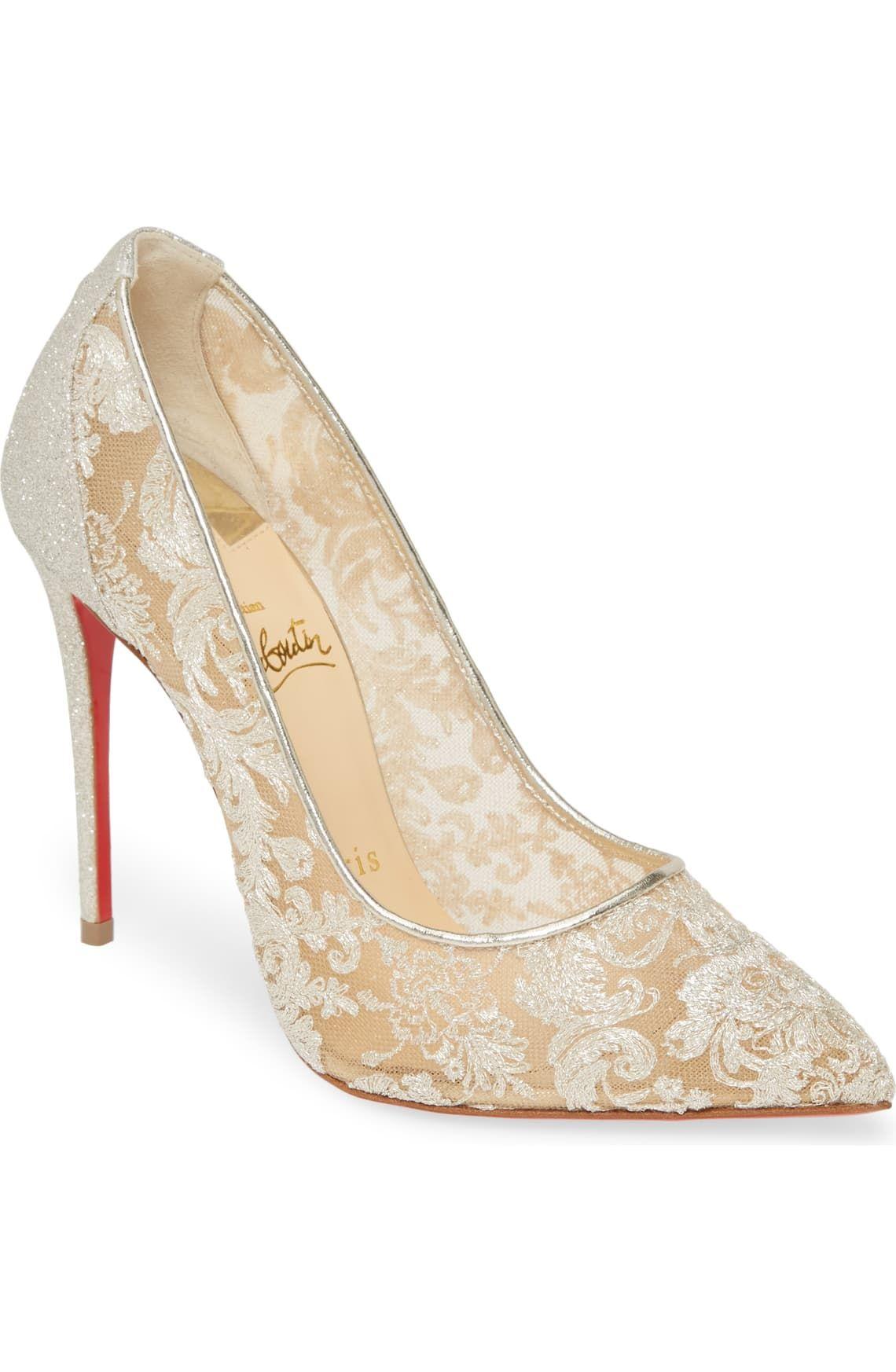 Christian Louboutin Follies Lace Pointed Toe Pump Women Nordstrom Christian Louboutin Wedding Shoes Louboutin Wedding Shoes Louboutin Wedding Heels