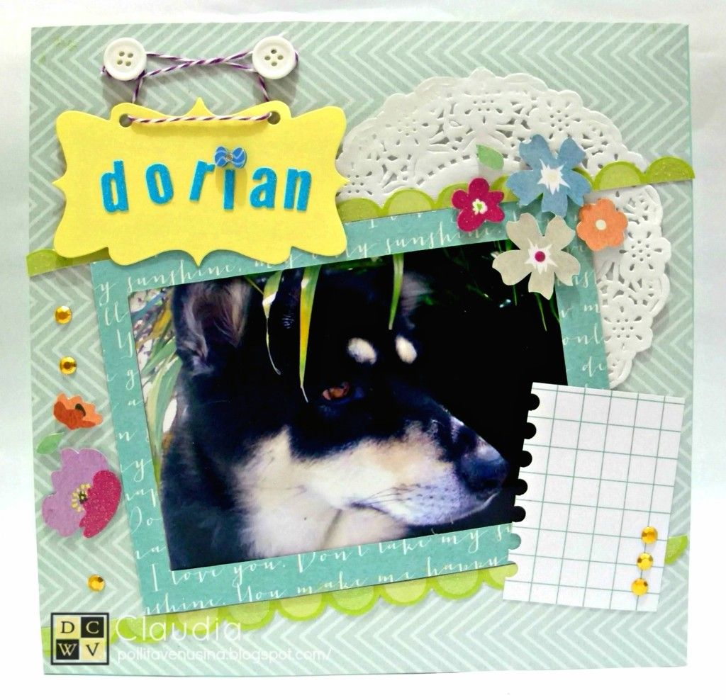 Post no. 2 - Layouts Perrunos.  DCWV Honey Chic Stack  Link: http://www.diecutswithaview.com/blog-sp/?p=215
