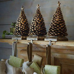 Pine Cone Tree Christmas Stocking Hook