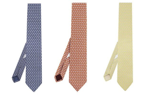 Ferragamo printed ties for year of the horse