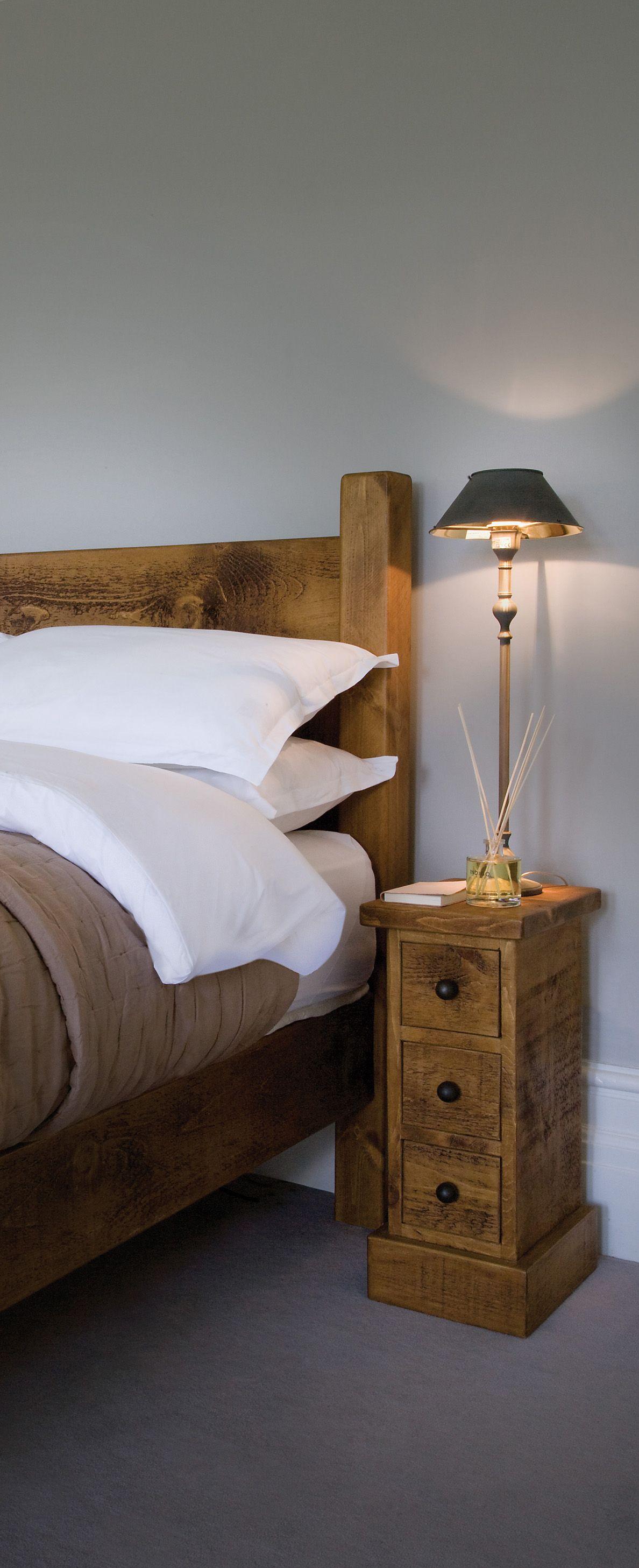 Slim Bedside Tables: Indigo Furniture #bedroom #narrow