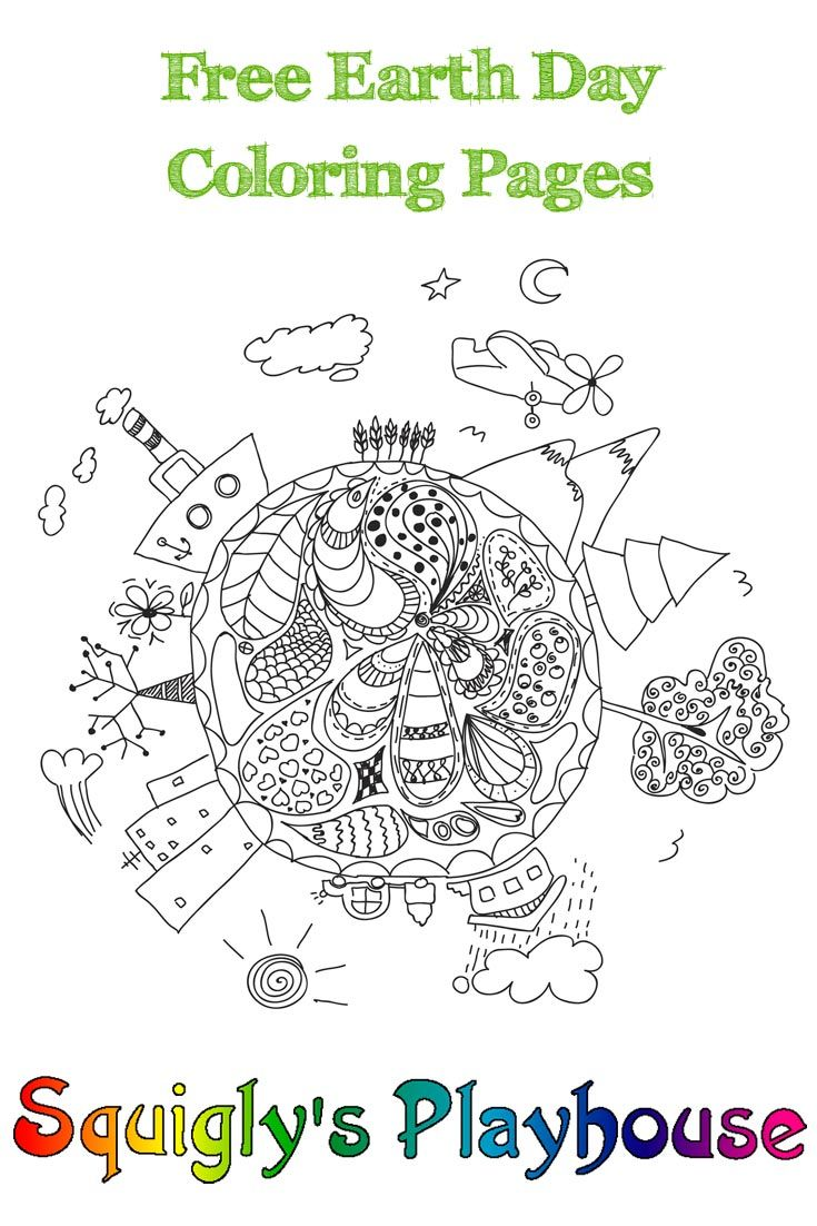 Earth Day Coloring Pages | Earth, Free printable and Crayons