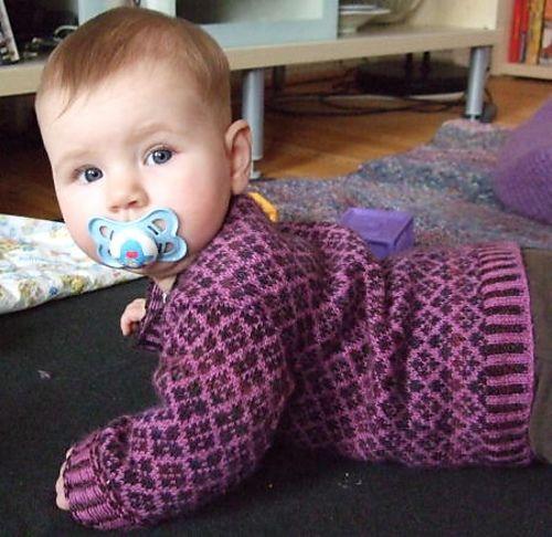 Babys First Fair Isle Sweater Knitting Pattern Httpravelry