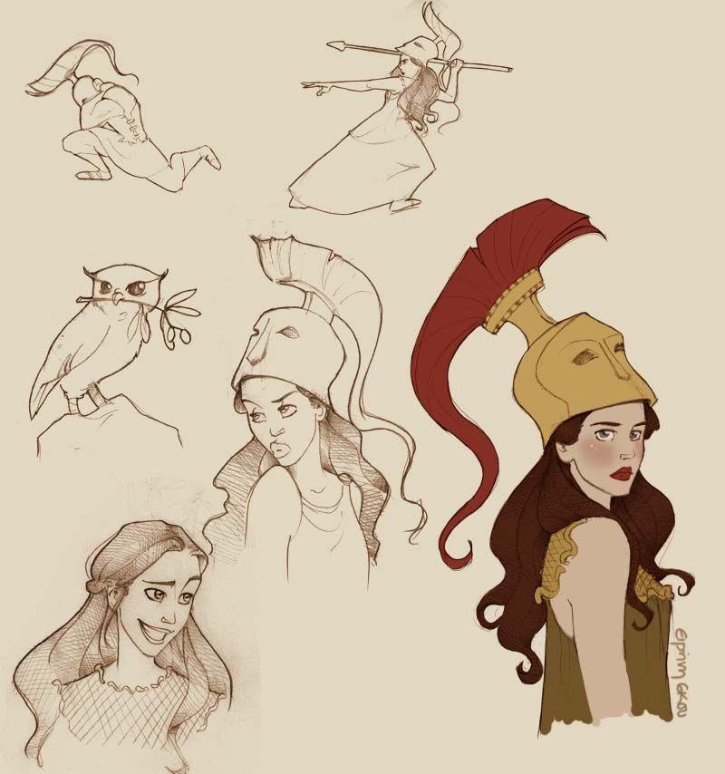 Athena Godess Of Wisdom Peyacy Jaskson