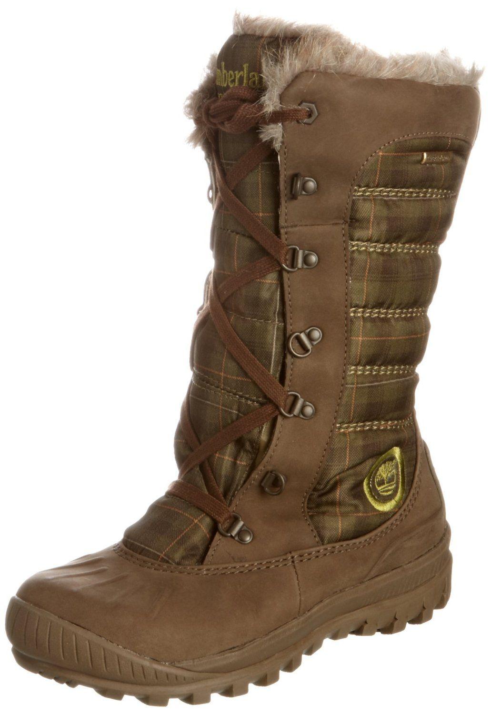 Timberland Mount Holly Waterproof, Women's Boots, Dark Brown/Green, 3.5 UK