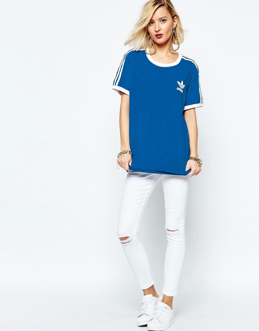 Imagen 4 de adidas Originals adicolour t camisa con 3 Stripe