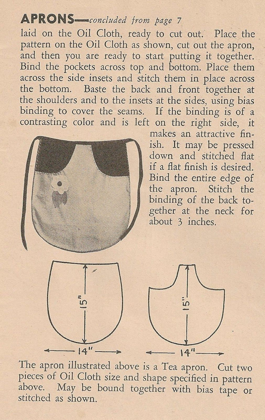 Sentimental Baby Free Apron Patterns Incorporate This