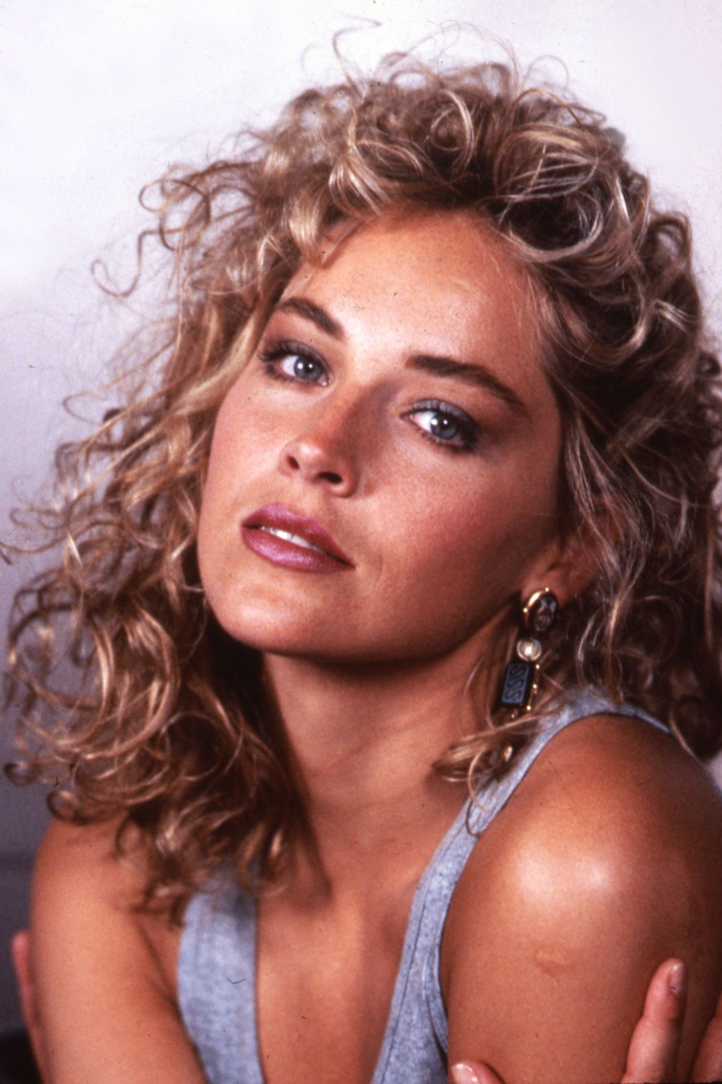 Young Sharon Stone 1052 215 1580 Hair Curls Iconic In