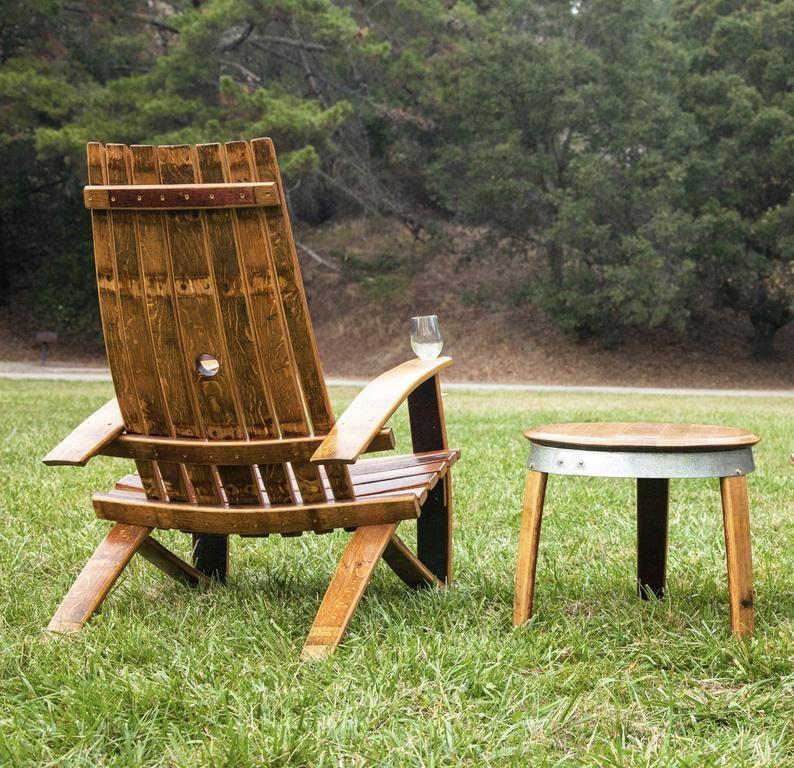 wine barrel adirondack chair dimensions