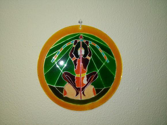 Mandala em vidro OXOSSI