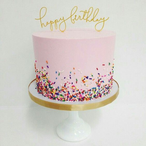 Sprinkle Me Pink Birthdays Cake and Birthday cakes