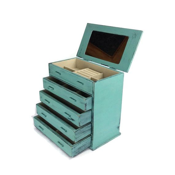 JEWELRY BOX Gift For Her Turquoise Jewelry Holder Chic Jewelry