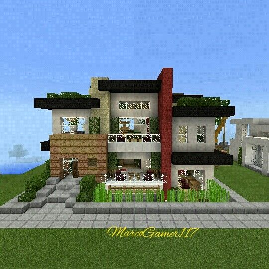 Casa moderna urbana minecraft minecraftpe mcpe for Casas modernas minecraft 0 10 0