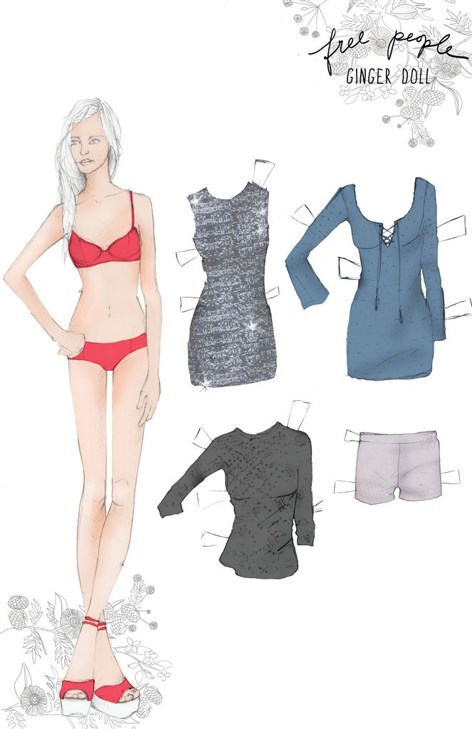 Ginger Paper Doll by free people