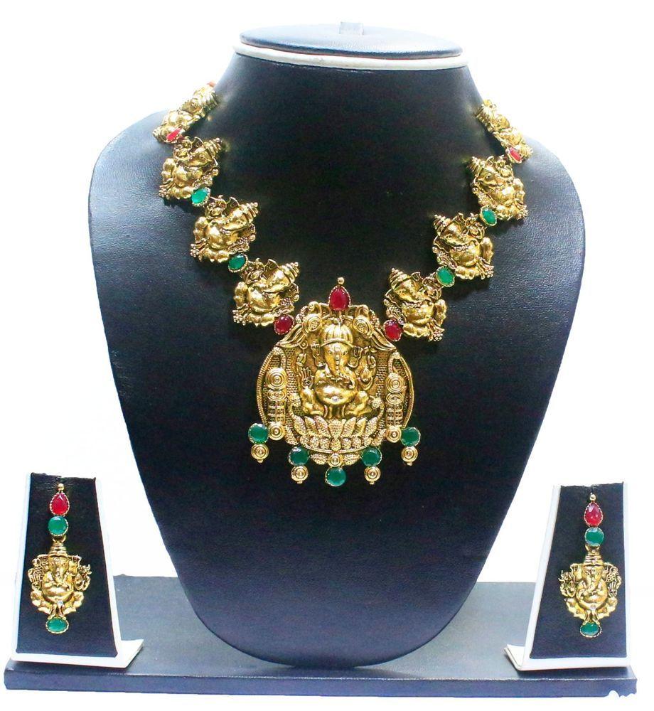 Zaveri pearls zpfk temple jewellery necklace setindian