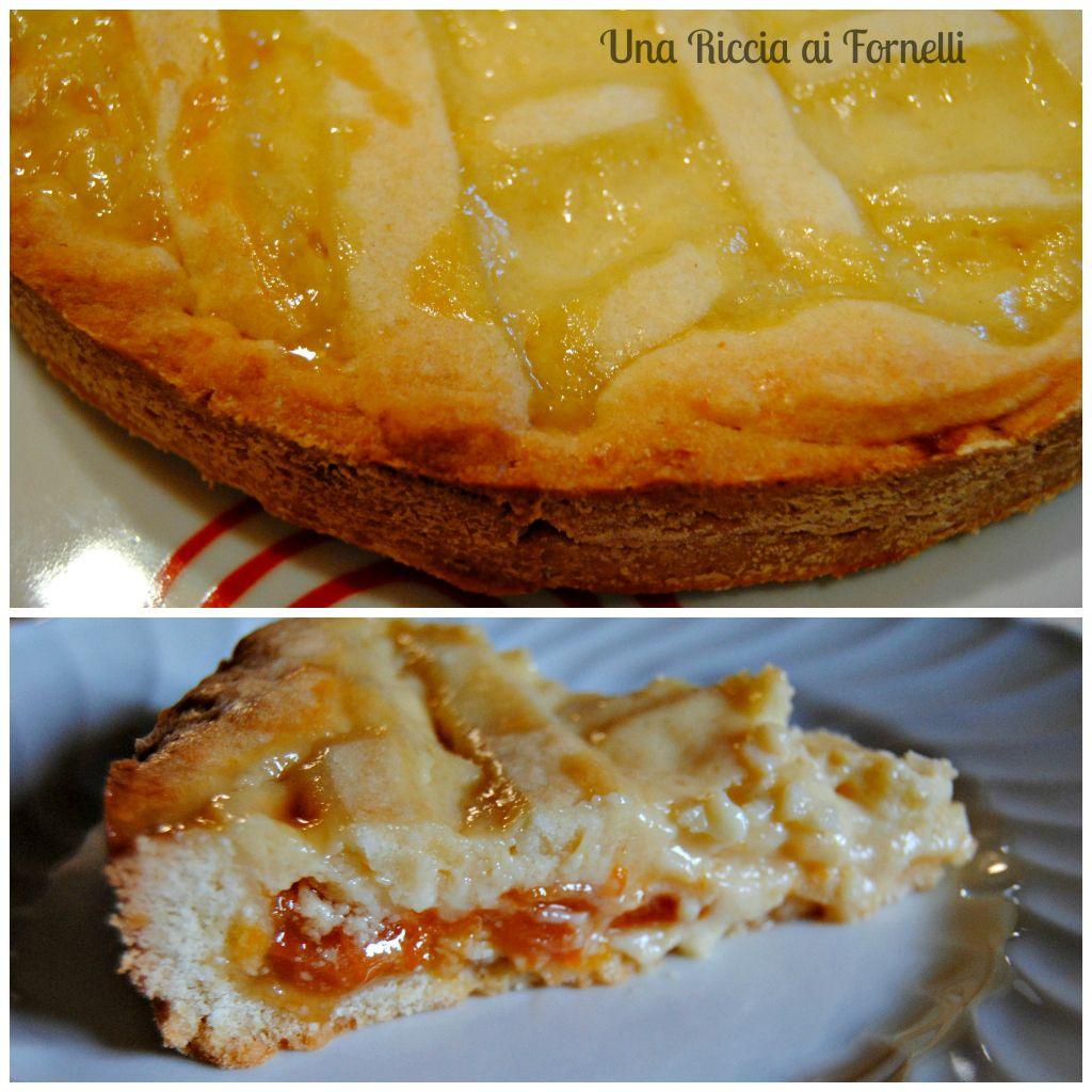 Crostata con crema al limone e albicocca