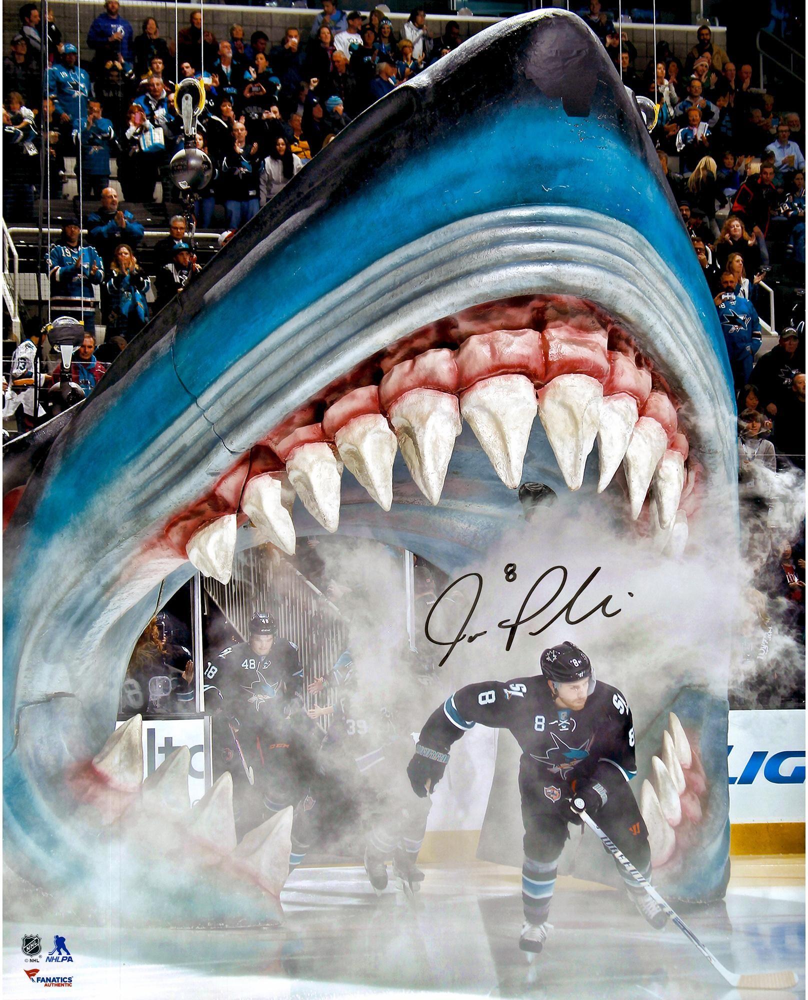 outlet store 6f8b0 25f2c Joe Pavelski San Jose Sharks Autographed Out Of Shark's ...