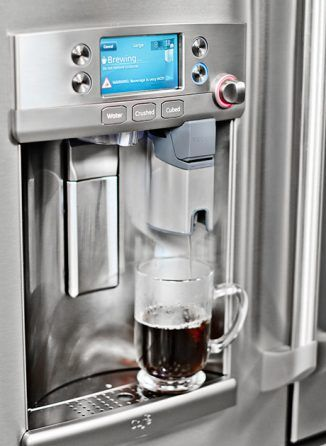Ge Cafe Refrigerator Keurig K Cup System My Kitchen Pinterest