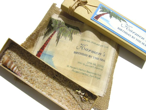 Beach Themed Wedding Invitations Templates: Beach Theme Wedding Invitations