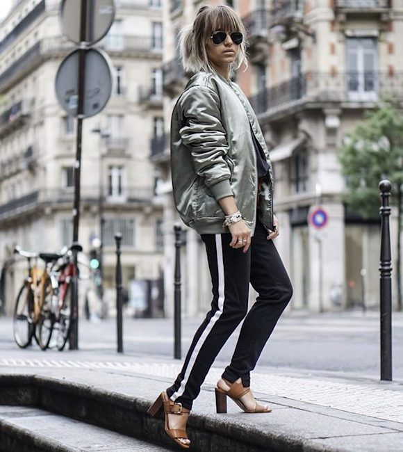 Bien connu Idée look : blouson aviateur kaki satiné + pantalon jogging noir  UN92