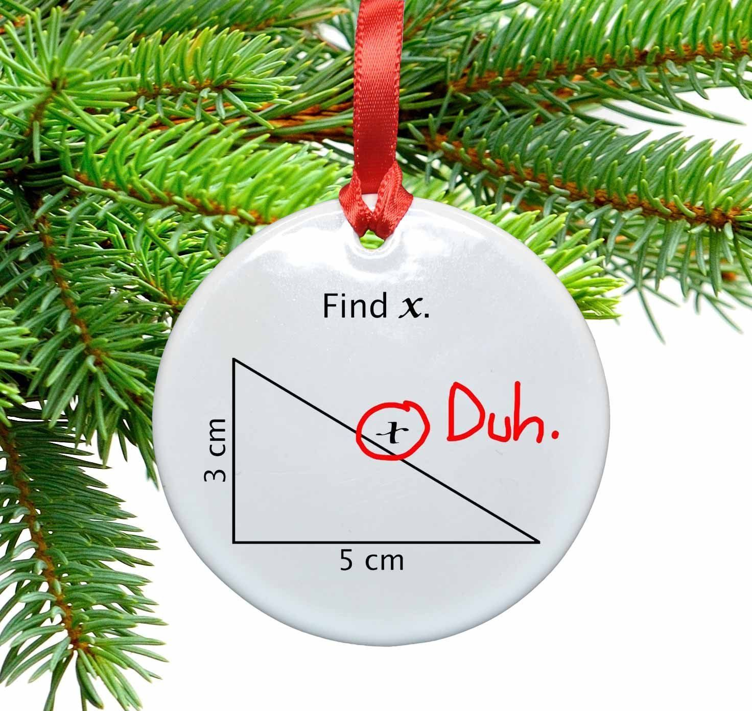 Find X Funny Math Ceramic Christmas Tree Ornament Details Can Be Found By Clicking On The Funny Christmas Ornaments Funny Ornaments Math Christmas Ornaments