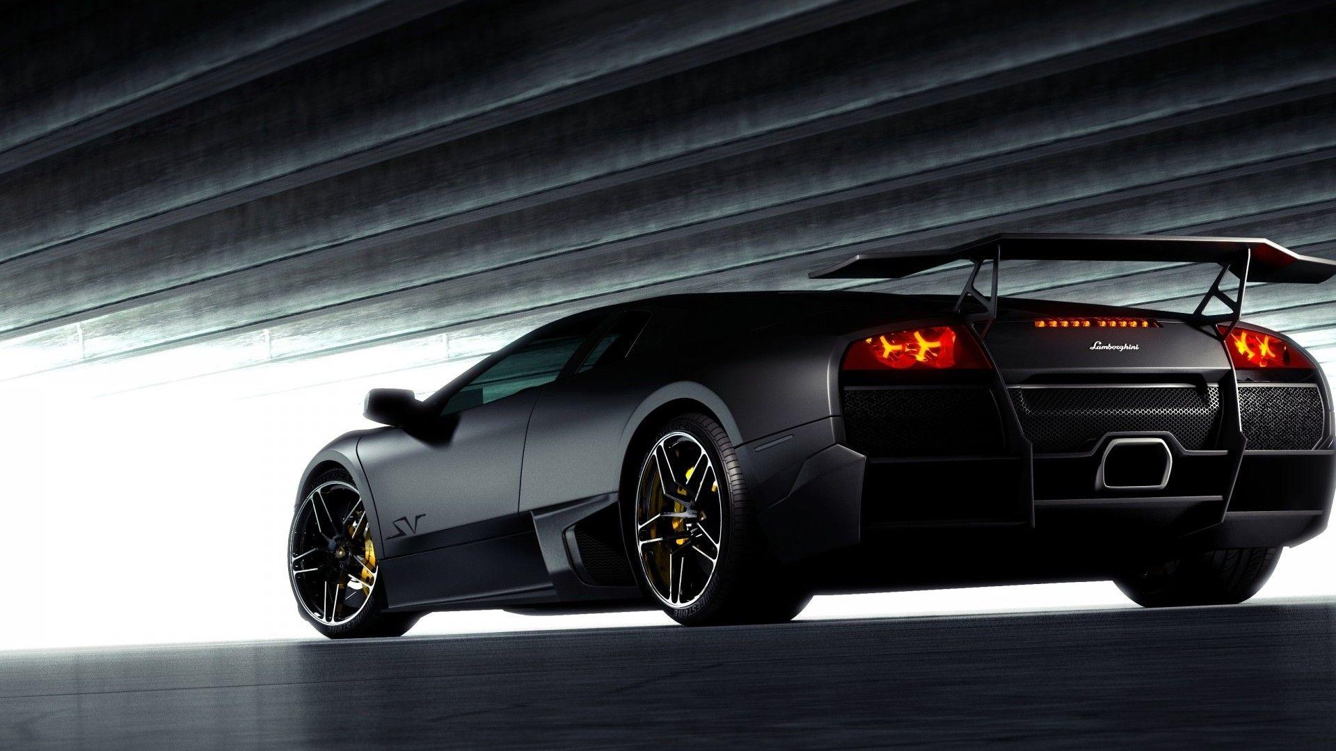 Black Lamborghini Back View HD Wallpapers 1080p Cars