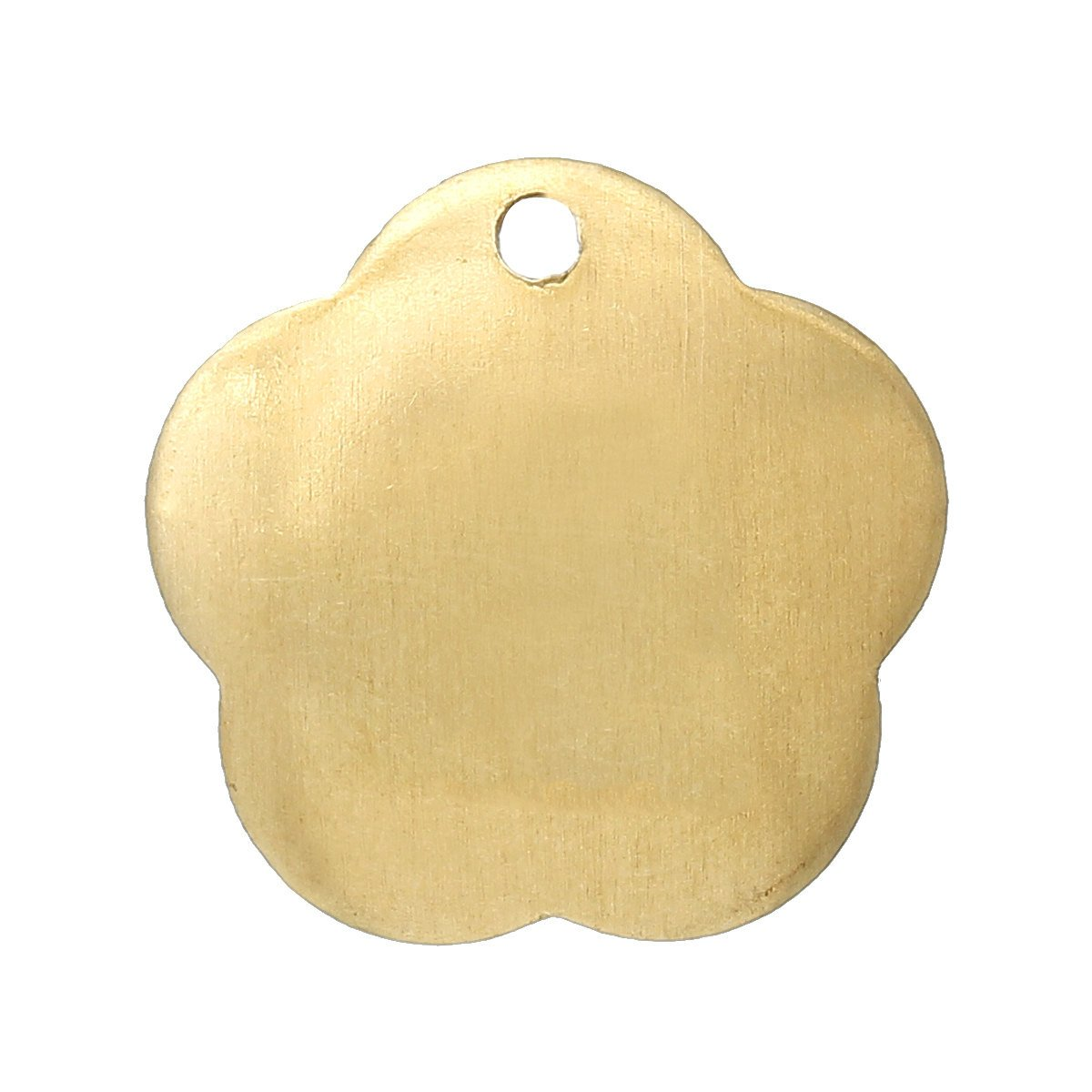 15 Gold Brass Sheet Metal Stamping Blanks Domed Flower Tag 1 Hole 15x14mm 20 Gauge Msb0189 Metal Stamping Stamp Cool Things To Buy