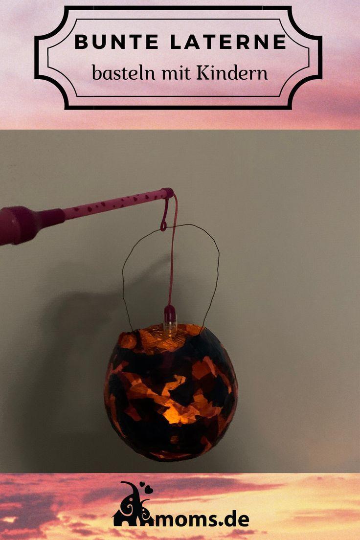 Eine #Laterne #basteln mit dieser #Anleitung aus #Luftballons und #Transparentpa...