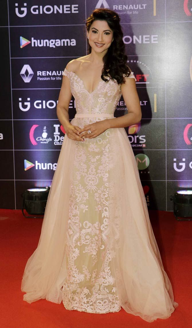 Gauahar (Gauhar) Khan at GiMA Awards event. #Bollywood #Fashion #Style #Beauty #Hot #Sexy