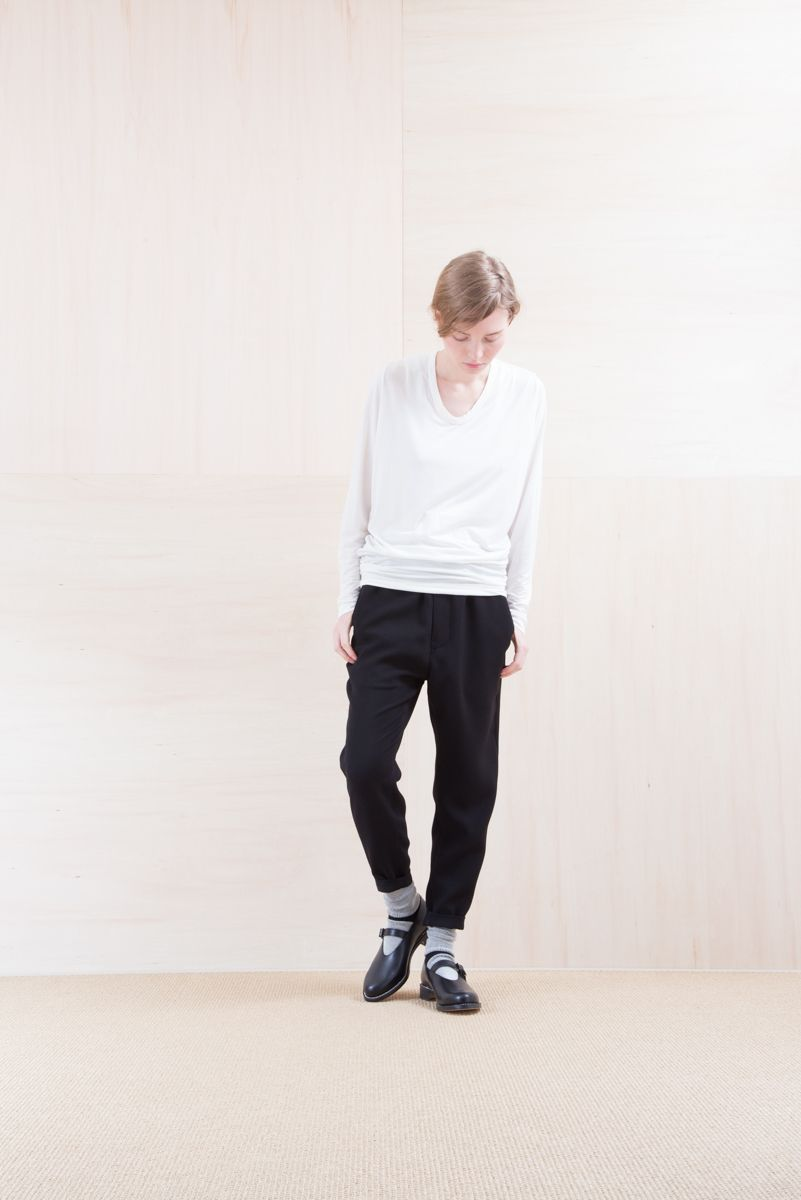 Cut&Sewn_ NA15-T22 CPT-L 9,000yen+tax br; Pants_ NA15-P91 SLMPT 21,500yen+tax br; Sox_ FA15041 LANA01 3,300yen+tax br; Shoes_ FA15062 ORDINARIA NOBLE 59,000yen+tax