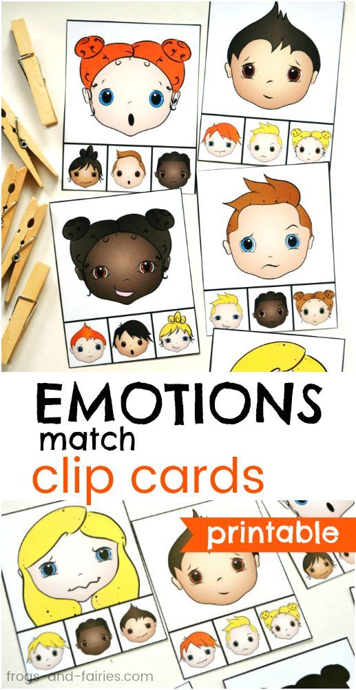 Emotions Match Clip Cards | Emotions preschool, Social ...