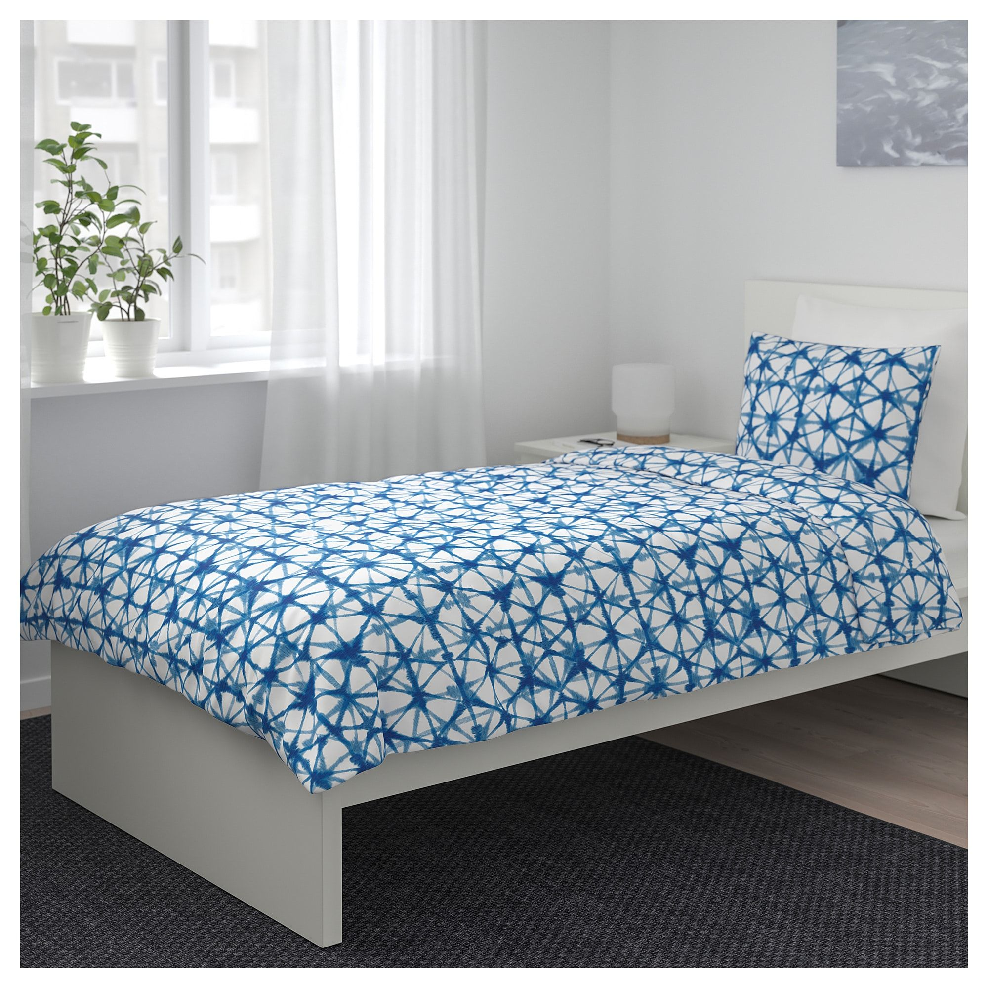 IKEA STJÄRNFLOCKA Duvet cover and pillowcase(s) white