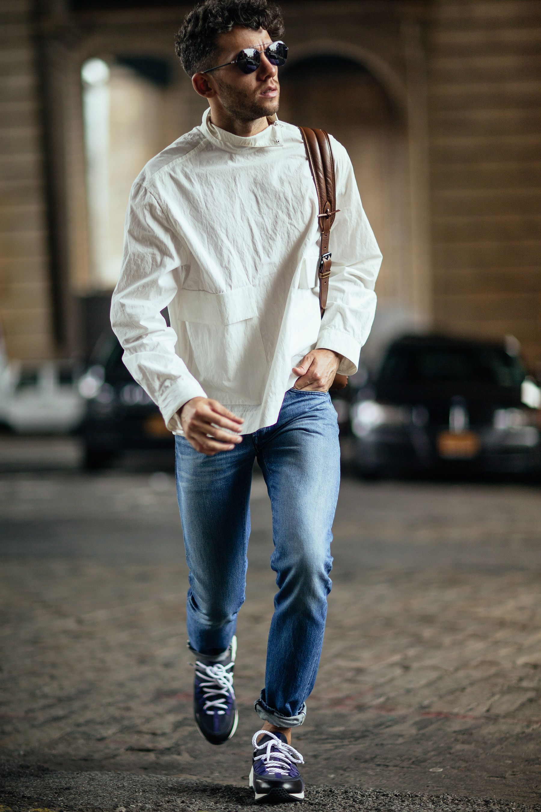 Men's Casual Streetwear Look | Jeans and White Top | New York Street Style | Men's Fashion Blogger