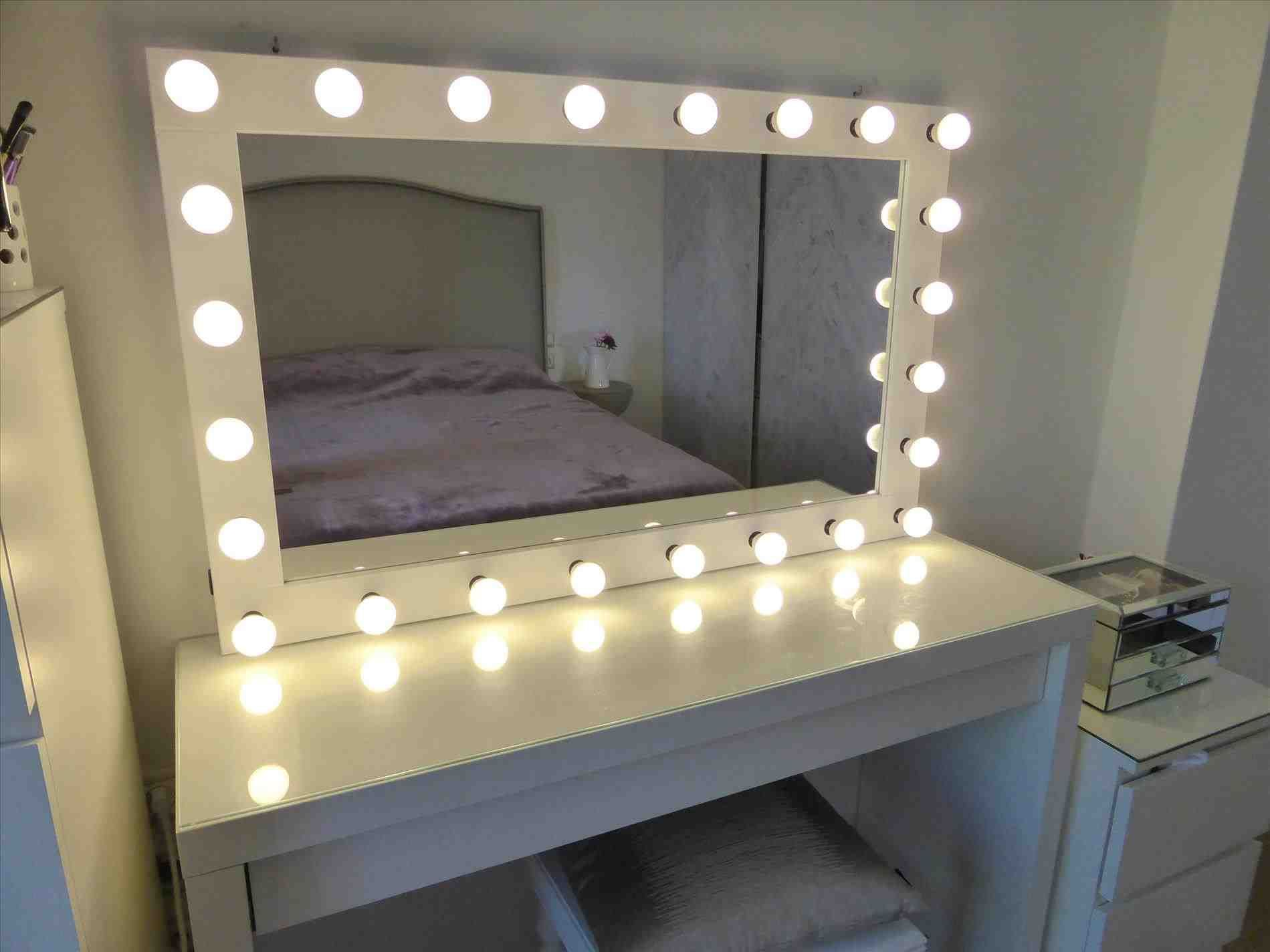 Vanity Mirror With Light Bulbs Ikea Hollywood Lighted Vanity