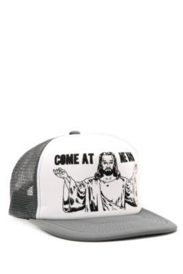 Click Image Above To Buy: Come At Me Bro Jesus Trucker Cap