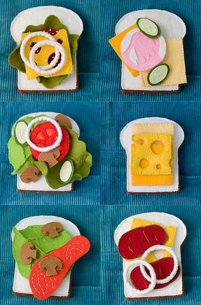 Felt Food Patterns (Link Love #felttoys