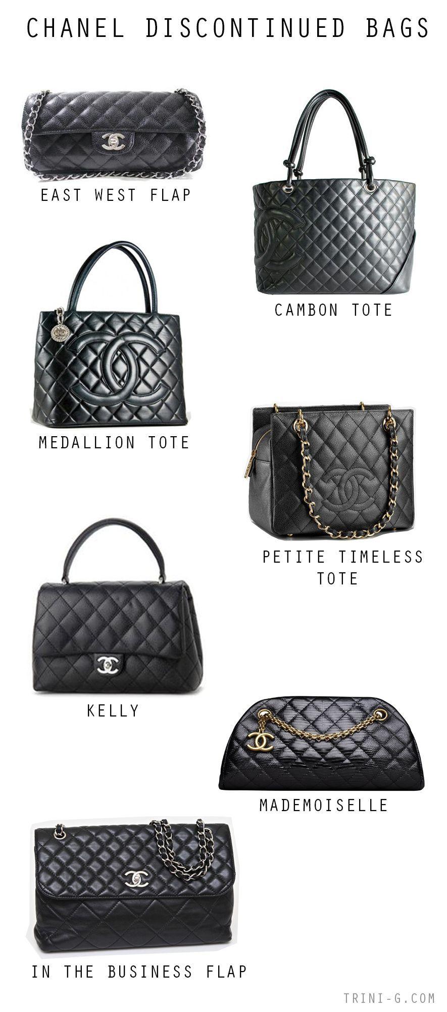 Trini blog  Chanel discontinued bags   Chanel handbags in 2018 ... 52fa1c3aa5